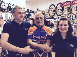 Glenn and Lucie Coltman from Pedal Power in Loughborough
