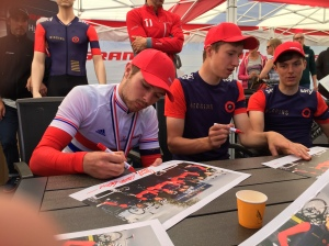 Owain Doull (in white) of Team Wiggins - look out for hims as a future champion.