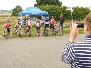Some of my group with support riders