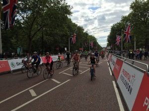On The Mall leading up to Buckingham Palace