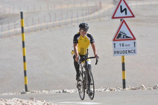 hitting the hardest bit on the Ventoux climb